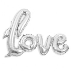 "BALLON ""LOVE"" METAL ARGENT"