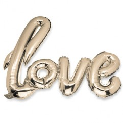 "BALLON ""LOVE"" METAL OR"