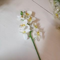 Branche de 7 orchidées en tergal