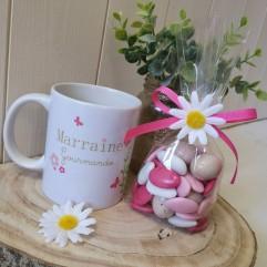 Mug Marraine gourmande + gourmandise