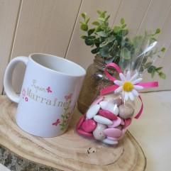 Mug personnalisable papillon + gourmandise