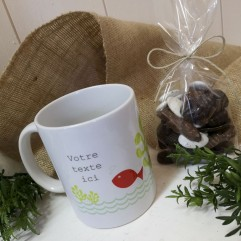 Mug personnalisable poisson+ gourmandise