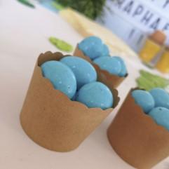 120 g d'oeufs bleus au caramel salé
