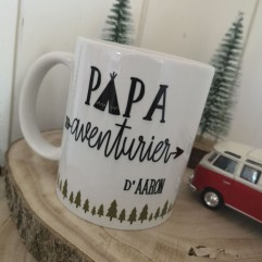 """Mug """"Papa Aventurier"""" personnalisable"""