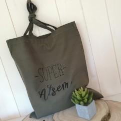 "Tote Bag ""super Atsem"" kaki"