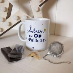 Mug Atsem en Or et chocolats