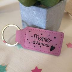 Porte clé Simili cuir Mamie d'amour