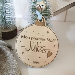 """Boule de Noël """"Mon premier Noël"""" bleu"""