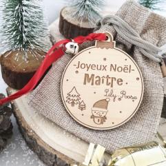 Boule de Noël Joyeux Noël Maître