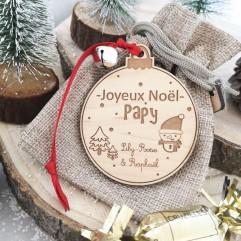 Boule de Noël Joyeux Noël Papy