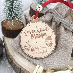 Boule de Noël Joyeux Noël Mamie