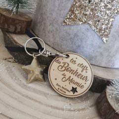 """Porte Clés """"Les clefs du bonheur de ma Mamie"""