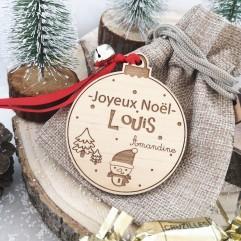 Boule de Noël Joyeux Noël Personnalisable