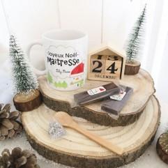 Mug Joyeux Noël Maîtresse + chocolat