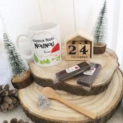 Mug Joyeux Noël Nounou + chocolat