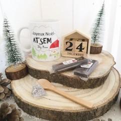 Mug Joyeux Noël Atsem + chocolat