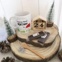 Mug Joyeux Noël Marraine + chocolat