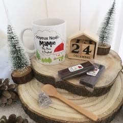 Mug Joyeux Noël Mamie + chocolat