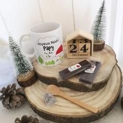 Mug Joyeux Noël Papy + chocolat