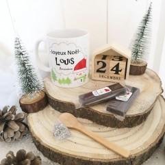 Mug Joyeux Noël personnalisable + chocolat