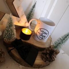 Le joli Mug de mon papy + bougeoir