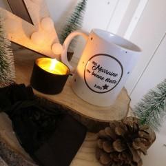 """Mug """"Ma Marraine ma bonne étoile"""" + bougeoir"""