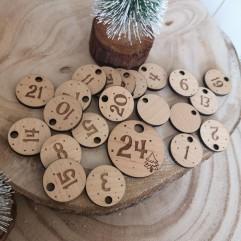 24 Numéros en bois