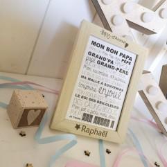 """Cadre """"Papy d'Amour"""" + carte postale"""