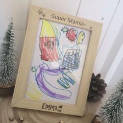 "Cadre ""Super Mamie"" Noël"