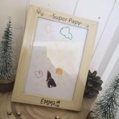 "Cadre ""Super Papy"" Noël"