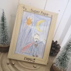 "Cadre ""Super Papa"" Noël"