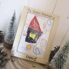 """Cadre """"Super Maman"""" Noël"""