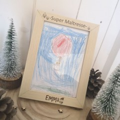"Cadre ""Super Maîtresse"" Noël"