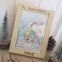 """Cadre """"Super Maître"""" Noël"""