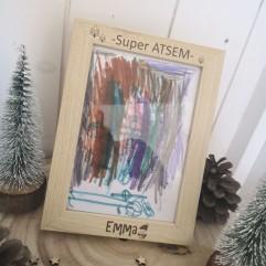 """Cadre """"Super ATSEM"""" Noël"""