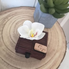 Boite En Bambou marron Orchidée