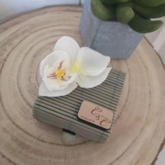 Boite En Bambou grise Orchidée