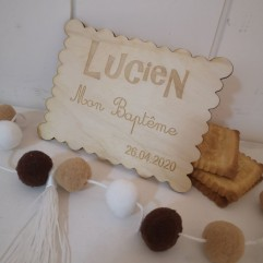 Plaquette forme biscuit