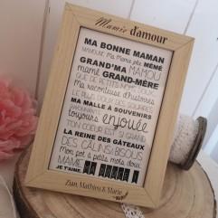 """Cadre """"Jardin"""" + carte postale"""