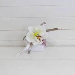 pochon en carton orchidée