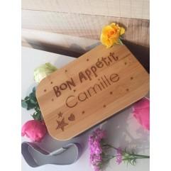 """Boite à repas Bon Appétit """"Prénom"""""""