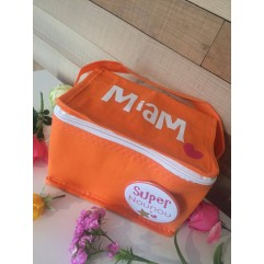 "Mini sac isotherme ""Miam""orange Super Nounou"