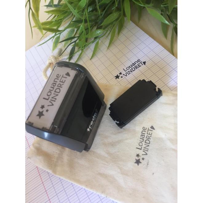 Tampon TEXTILE et recharge tampon papier