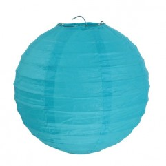2 Lanternes 20 Cm Turquoise