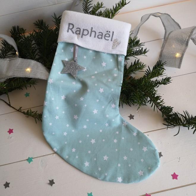 Chaussette de Noël Mint à étoile