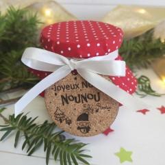 Bougie perle Joyeux Noël Nounou