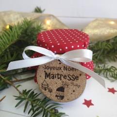 Bougie perle Joyeux Noël Maîtresse