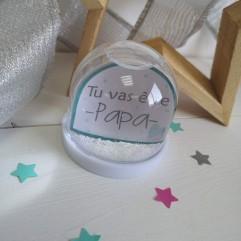 """Boule à neige """"Tu vas être Papa"""" (C)"""