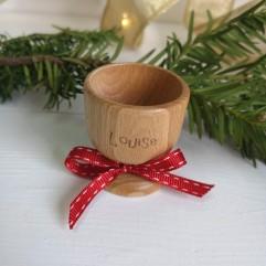 Coquetier en bois Noël