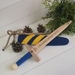 Epée bleu et jaune Grandes Médiévales (40cm)